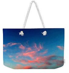 Pink Clouds Abstract Weekender Tote Bag
