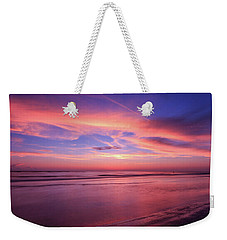 Weekender Tote Bag featuring the photograph Pink Sky And Ocean by Doug Camara