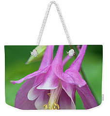 Weekender Tote Bag featuring the photograph Pink Columbine - D010096 by Daniel Dempster