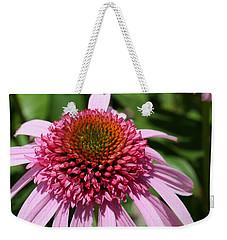 Pink Coneflower Close-up Weekender Tote Bag