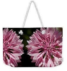 Pink Cornflowers Weekender Tote Bag