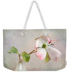 Pink Cornus Kousa Dogwood Blossom Weekender Tote Bag