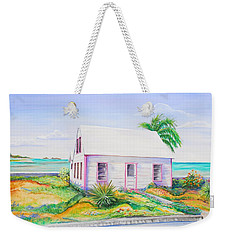 Pink Cottage Weekender Tote Bag