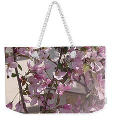Pink Crabapple Branch Weekender Tote Bag