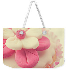 Weekender Tote Bag featuring the photograph Pink Cupcake by Lyn Randle