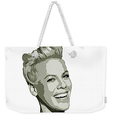 Pink Cutout Art Weekender Tote Bag
