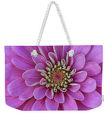 Weekender Tote Bag featuring the photograph Pink Dahlia by Dale Kincaid