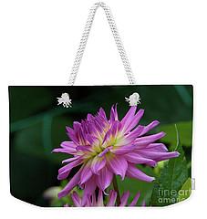 Pink Dahlia Weekender Tote Bag by Glenn Franco Simmons