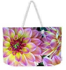 Pink Dahlias  Weekender Tote Bag