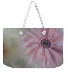 Weekender Tote Bag featuring the painting Pink Daisies by Donna Tuten