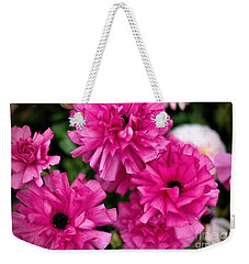 Weekender Tote Bag featuring the photograph Pink by Diana Mary Sharpton