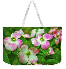Pink Dogwoods 003 Weekender Tote Bag by George Bostian