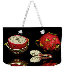 Weekender Tote Bag featuring the photograph Pink Dragon Fruit  by David French