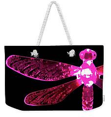 Pink Dragonfly Weekender Tote Bag