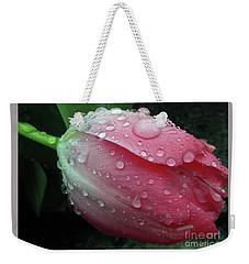 Pink Drops #2 Weekender Tote Bag by Kim Tran