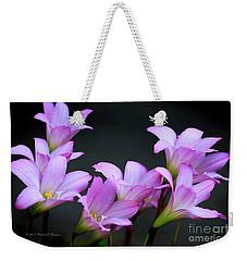 Pink Fairy Lilies Weekender Tote Bag
