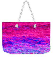 Pink Fantasy Waters Abstract Weekender Tote Bag