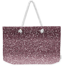 Pink Faux Glitter Ombre Weekender Tote Bag
