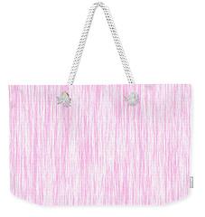 Pink Fiber Weekender Tote Bag
