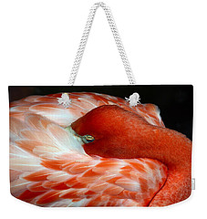 Pink Flamingo Weekender Tote Bag by Inspirational Photo Creations Audrey Woods