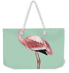Pink Flamingo Isolated Weekender Tote Bag