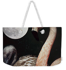 Pink Flamingo Moon 2 Weekender Tote Bag