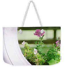 Weekender Tote Bag featuring the photograph Pink Floral 2 by Andrea Anderegg