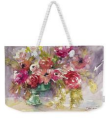 Pink Floral Impressions Weekender Tote Bag