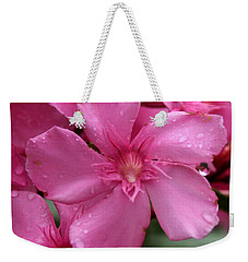 Pink Flower After Rain Weekender Tote Bag