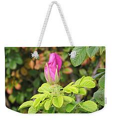 Pink Flower Bud Weekender Tote Bag