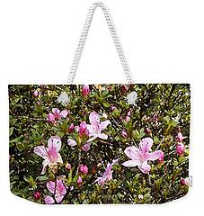 Pink Flower Bush Weekender Tote Bag