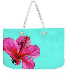 Pink Flower In Water Weekender Tote Bag