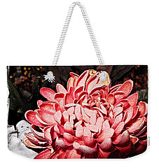 Weekender Tote Bag featuring the photograph Pink Flower by Joan  Minchak