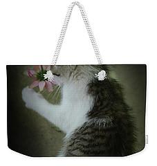 Pink Flower Weekender Tote Bag by Kim Henderson
