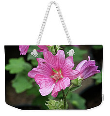 Pink Flower With Bug. Weekender Tote Bag