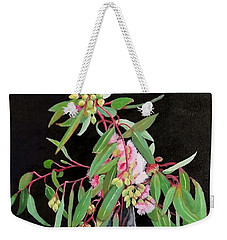 Pink Flowering Gum Weekender Tote Bag