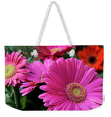 Weekender Tote Bag featuring the photograph Pink Flowers by Brian Jones