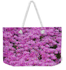 Pink Flowers Field Weekender Tote Bag