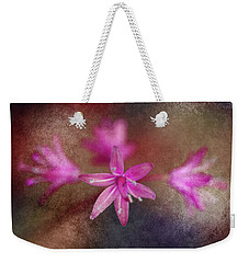 Pink Flowers Weekender Tote Bag by WB Johnston