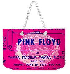 Pink Floyd Concert Ticket 1973 Weekender Tote Bag