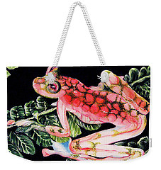 Pink Frog Weekender Tote Bag by Hye Ja Billie