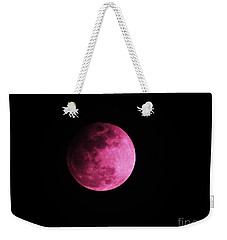 Weekender Tote Bag featuring the photograph Pink Full Moon In April 2017 by J L Zarek