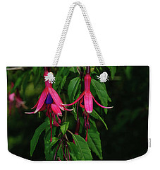 Weekender Tote Bag featuring the photograph Pink Fushia by Tikvah's Hope