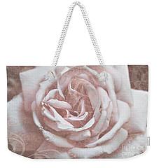 Pink Garden Rose Weekender Tote Bag