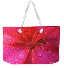 Pink Geranium Weekender Tote Bag
