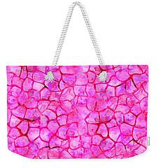 Pink Giraffe Print Weekender Tote Bag