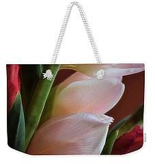 Pink Gladiolus Weekender Tote Bag