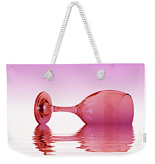 Pink Glass Weekender Tote Bag by David French