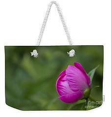 Weekender Tote Bag featuring the photograph Pink Globe by Andrea Silies