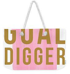 Pink Goal Digger Weekender Tote Bag by Elizabeth Taylor